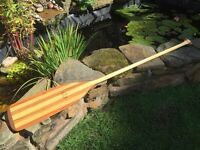 handmade wooden canoe/ rowing/ paddle, stunning