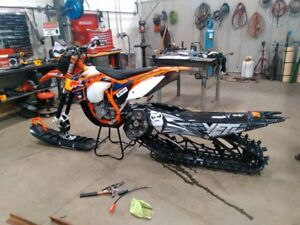 Loaded 2013 KTM SXF450 Factory Edition Snowbike Yeti Timbersled