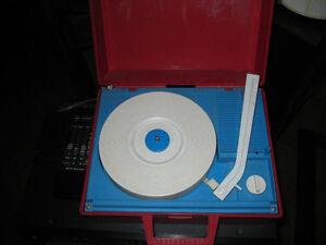 vintage portable turntable and retro turntable