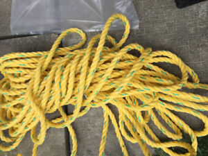 1/2 in. x 50 ft. Green Twisted Nylon Rope