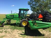 JD W150 Swather ONLY $119,500, ONLY 120hrs