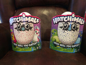 2 Hatchimals For Sale- 1 Blue/Green Draggle and 1 Pink Penguala