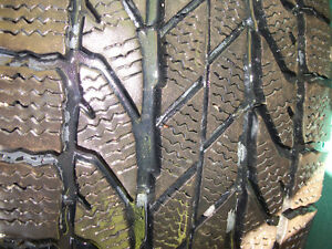 Four Goodrich Winter Slalom tires with rims London Ontario image 8