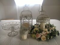 Beautiful wedding birdcage floral table centrepieces x 6 and more