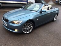 BMW 3 Series 325i SE 2dr Convertible Manual, Blue, p/x considered 2008 (08 reg), Leather Alloys