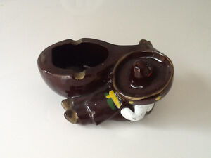 Vintage Sleeping Mexican with Sombrero Ashtray