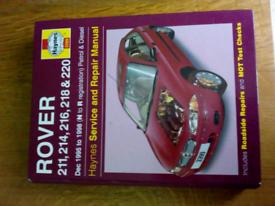Haynes Service & Repair Manual Rover 200 Series