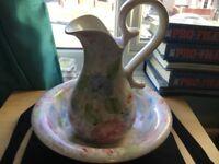 Ceramic water jug and bowl