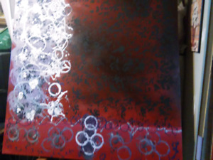 Modern acrylic painting on canvas picture