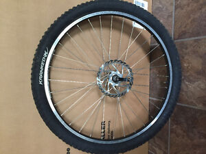 Mountain bike front tire with rims