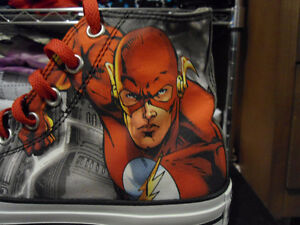 4 Pairs of DC Comics Converse Shoes