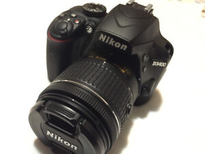 "LNIB 775 Shutter Count ""Nikon D3400 DSLR"" + 18-55 VR II Lens"
