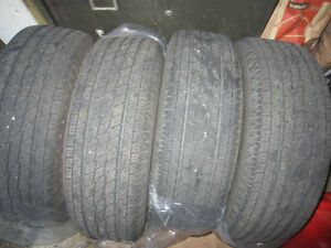 Four 215/70R16, TOYO H/T, all season, very good condition (7/32)