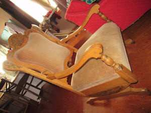 antique couch/chair and rocker set