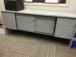 Credenza, table and matching computer desk