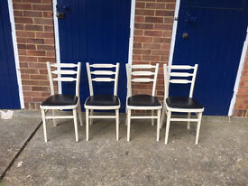 Vintage retro wooden chairs (4)
