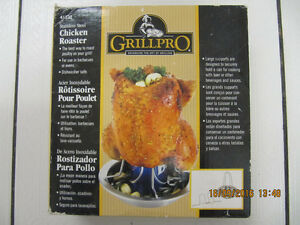 Classic Grillpro Stainless Steel Chicken RoasterStill New In Box