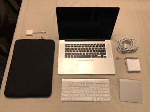 """Macbook Pro 15"""" 2012 250GB SSD package with accessories"""