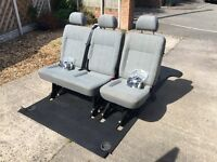 VW T5 Kombi seats with floor mat and all seat belts