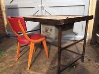 Industrial desk and BEN chair