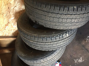 Hey guy I have a set of winter tires 20% tread 250$ 35s
