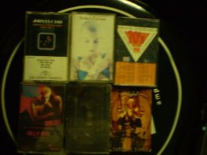 different cassette billy idol/cash/o connors & promotion burger