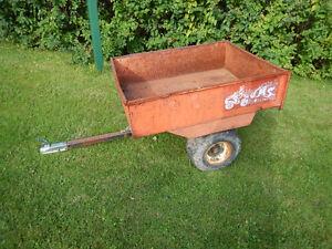 remorque de vtt ou tracteur de pelouse