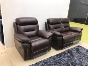 Brand new box packed Leather air Love seat $500