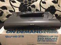 SKY+HD 2TB 3D Wi-Fi - Latest 2016 box, with remote, leads and box! Bargain £55