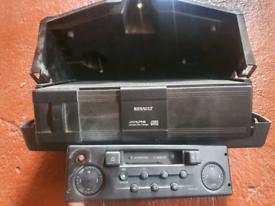 Renault alpine CD changer and cassette radio