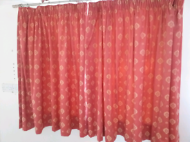 2 sets VGC curtains, poles and all fixings