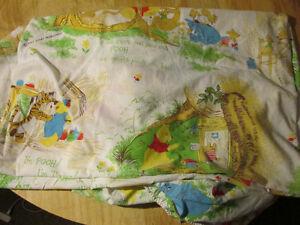 Disney WINNIE THE POOH Bed Sheet Vintage Tigger Piglet Eeeyore