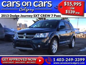 2013 Dodge Journey SXT CREW 7 Pass w/Heated Seats, Sunroof, Blue