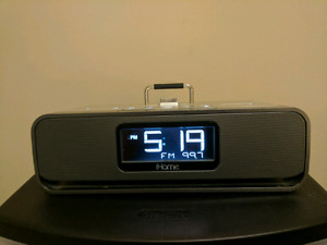 iHome Clock Radio Speaker Charging Dock