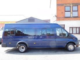 Super low miles on 66,000 Ford Transit 17 seat mini bus one owner from new (49)