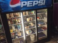 Pepsi 3 door fridge