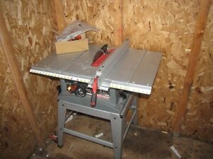 10 in Table Saw with stand like new