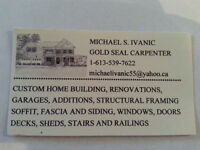 GOLD SEAL CARPENTER WITH OVER 35 YEARS EXPERIENCE