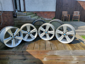 Genuine bmw borbet wheels 19 inch with x2 rear tyres