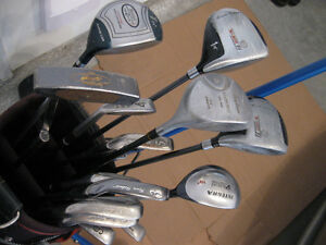 Men's RH Clubs with bag and cart