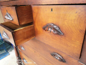 Antique Men's dresser with Hat Drawers and Moustache Handles.