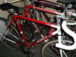 2 NICE VINTAGE 89 ROAD RACE TRIA BIKES- SIZE SMALL