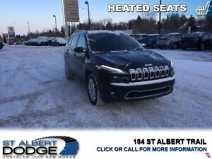 2017 Jeep Cherokee Limited  HEATED LEATHER | BACK CAM | SUNROOF