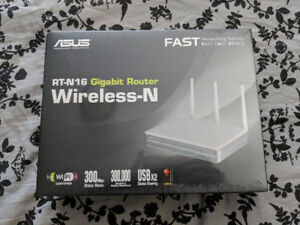 ASUS WIRELESS ROUTER WIFI RT-N16 BRAND NEW SEALED