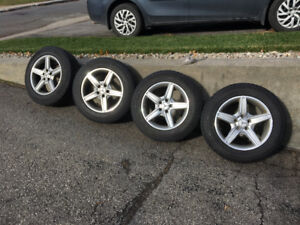 Mercedes GLK rims and winter tires