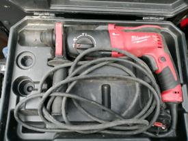 Milwaukee SDS hammer drill 240v