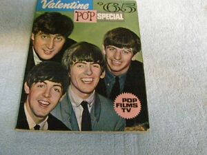 BEATLES  1965 VALENTINE BOOK FROM ENGLAND