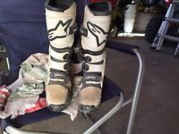 Alpine star riding boots size 8 mens