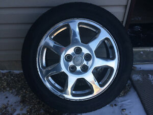 "Cadillac 17"" 5X115 Chrome Alloy Buick Pontiac Chev GM Saturn Old"
