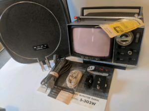 Sony Micro 5-303W TV 1960s Television 60s